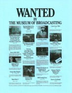 Museum of Broadcasting wanted list
