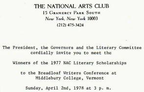 NAC reading invite