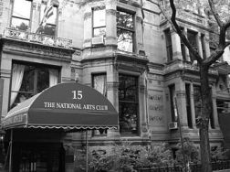 National Arts Club awning bw