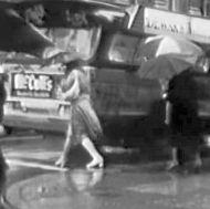 rain bus bw