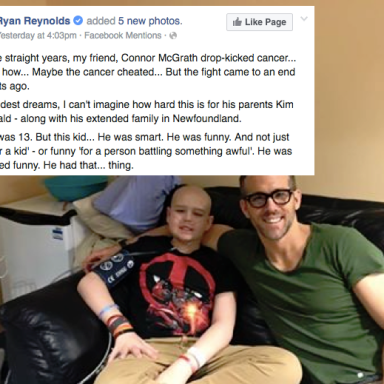Ryan Reynolds Posted This Goodbye To One Of His Fans Who Died Of Cancer And It's Making The Whole Internet Cry