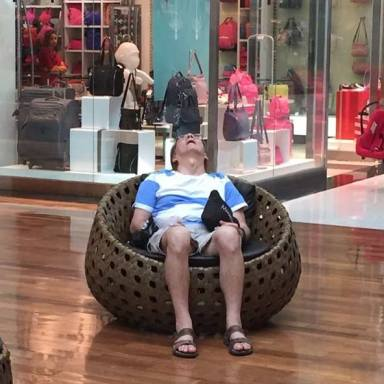 37 Hilarious Photos Of Miserable Men Waiting Around While The Ladies Go Shopping