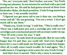 Uncle Irving story