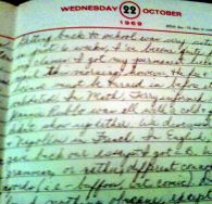 1969 diary page