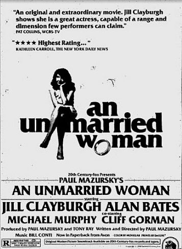 An Unmarried Woman ad