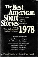 best american short stories 1978
