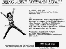Bring Abbie Hoffman Home Aug 78
