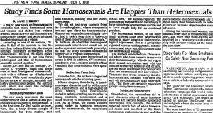 Homosexuals happier