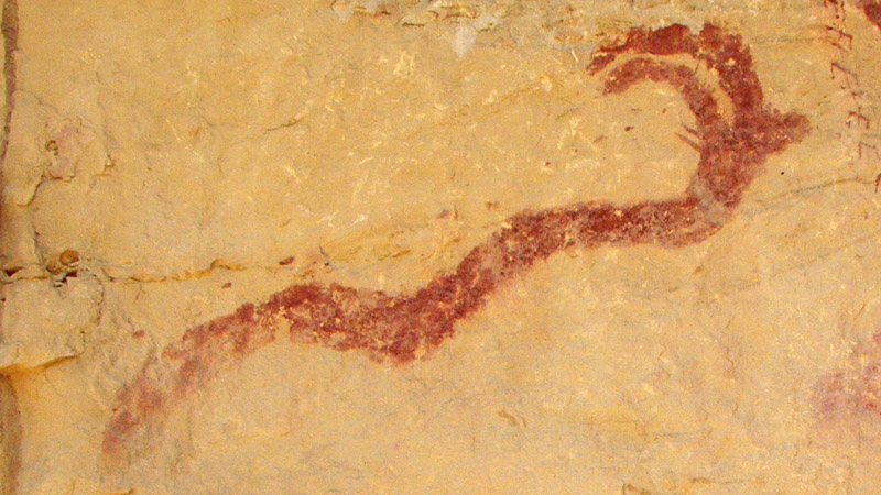 Horned Serpent Cave Painting via Wiki Commons