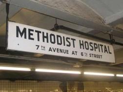 methodist hospital sign