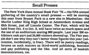 NY Book Fair 1978