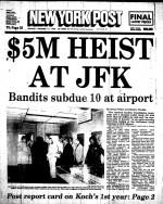 NY Post JFK Heist