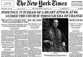 Pope Paul Dead