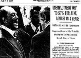 Unemployment July 1978