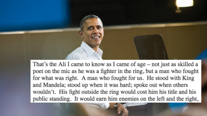 President Obama's Moving Tribute To Muhammad Ali Will Make You FeelThings