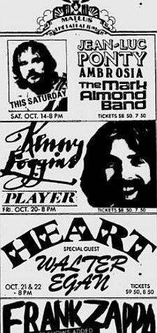 Heart show Oct 78