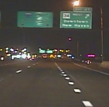 Mid-January 1979 I-95 New Haven night