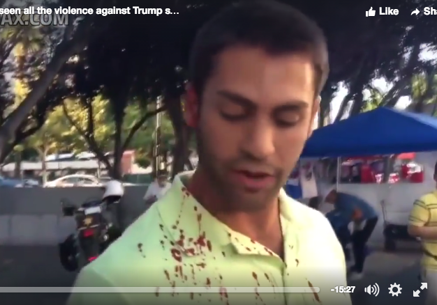 Here's The Viral Video Showing Donald Trump Supporters Getting The Shit Beat Out OfThem