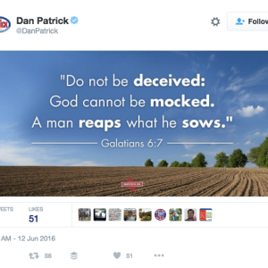 The Lt. Gov Of Texas Posted This Tweet Right After The Shooting At A Gay Club