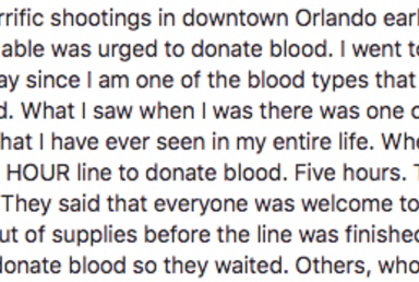 'What I Saw There Was Amazing,' Woman Says About Donating Blood In Orlando The Day Of The Attack