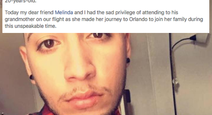 What This Flight Did For The Grieving Grandmother Of An Orlando Shooting Victim Will Melt Your Heart