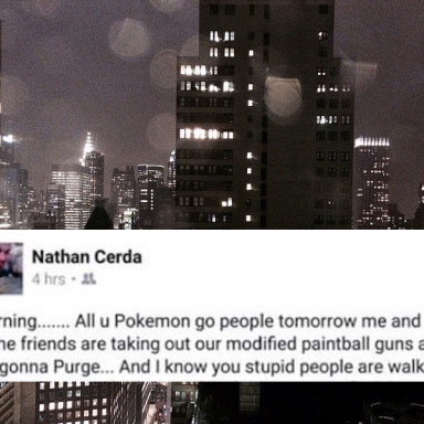This Guy Who Threatened To 'Purge' All Pokémon Go Players Got His Ass Thrown In Prison