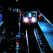 1977 D train at night