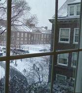 boylan hall in winter
