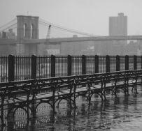 Brooklyn Heights promenade rain