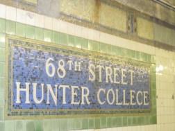 Hunter College subway sign