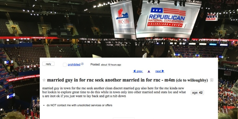 Lots Of Repressed Horny Men Are Looking For Hot Gay Sex At RNCConvention