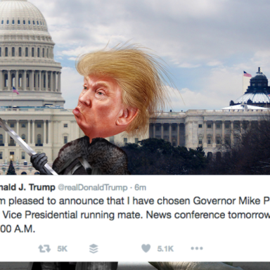 Future Overlord Donald J. Trump Just Revealed His Vice President On Twitter