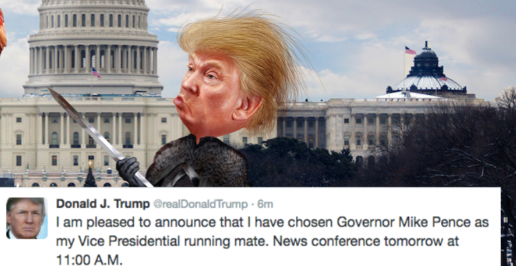 Future Overlord Donald J. Trump Just Revealed His Vice President OnTwitter