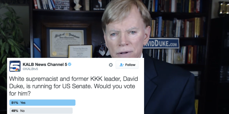 A Poll Asked People If They Support A Former KKK Leader For Senate. The Results AreHorrifying.