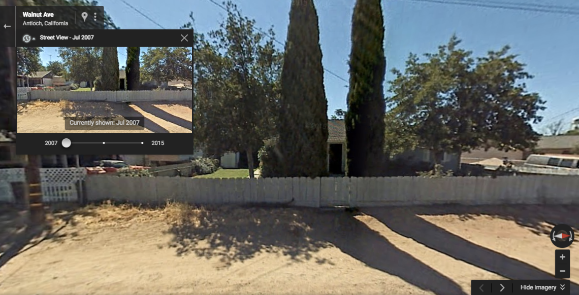 The home in 2007 via Google Street View