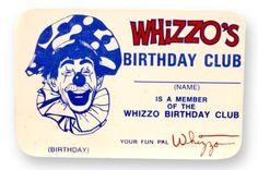 whizzo's birthday club