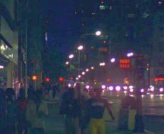1976 manhattan street at night