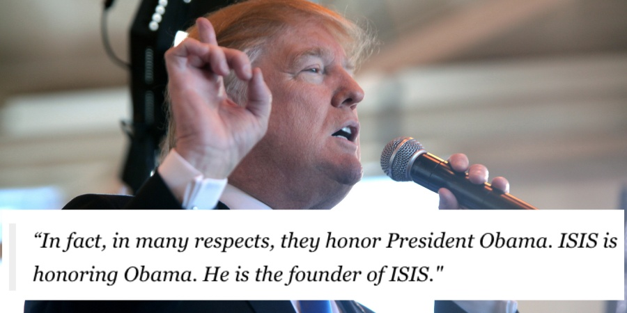 Donald Trump Says Barack Obama Is The Founder Of ISIS (He's Not)