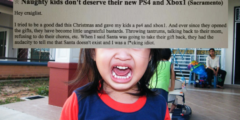 This Savage Dad's Hilarious Response To His Ungrateful Kids Is Exactly What TheyDeserved