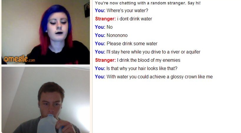 This Guy Trolls People On Omegle About Drinking Water And It's WeirdlyHilarious