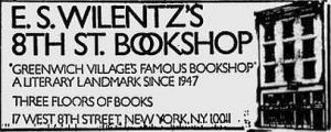 8th street bookshop ad
