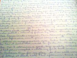 diary handwriting