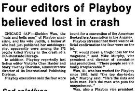 Editors of Playboy Crash