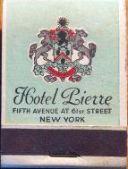 Hotel Pierre matchbook