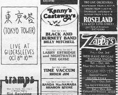 Kenny's Castaways ad