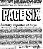 page six literary impostor