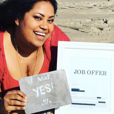 This Woman Announced Her New Job Like An Engagement Photo Shoot And It's Literally Everything