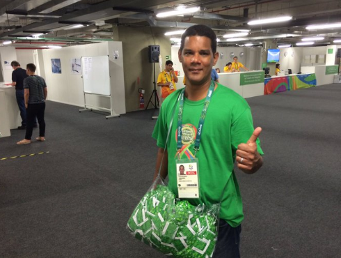 Here's The Guy Whose *Only* Job Is To Hand Out Condoms At TheOlympics