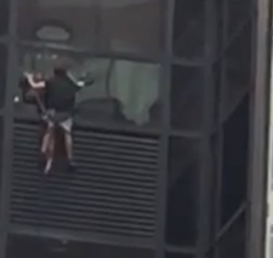 There Is A Man Climbing Up Trump Tower With Suction Cups Right Now. Watch It Here.