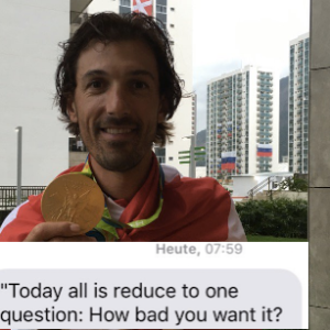 Here's The Text That Motivated An Olympic Gold Medalist Right Before His Event